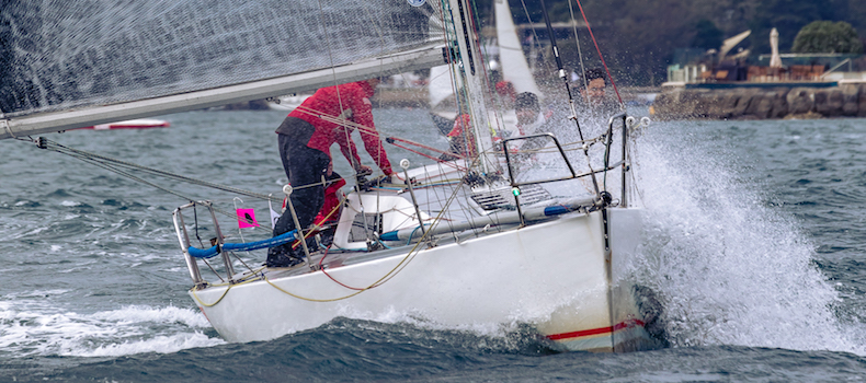 Windy Conditions at the CYCA Winter Series.