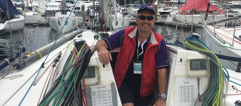 Andy Pamflett Preparing for the 2017 Sydney to Hobart