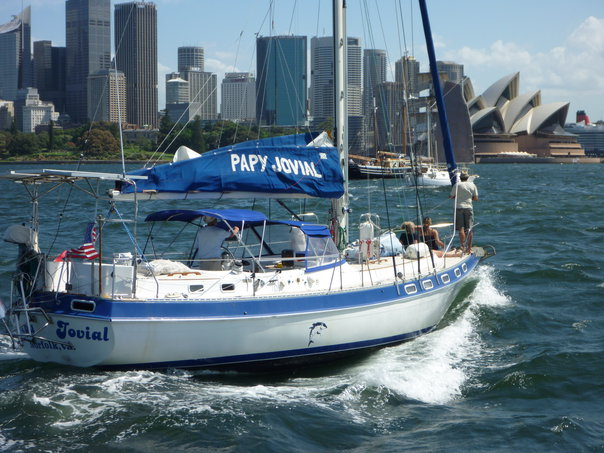 Arriving in Sydney after sailing across the Tasman Sea