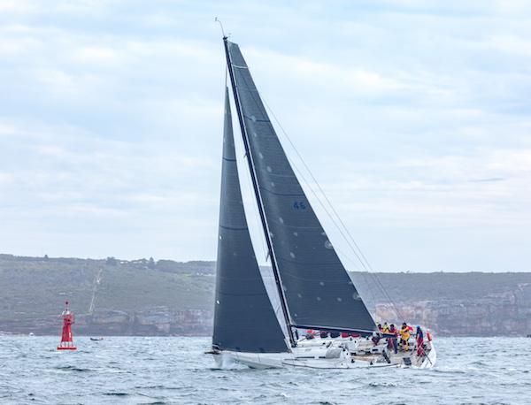 Sailing on Khaleesi at the start of the CYCA Bird Island Yacht Race