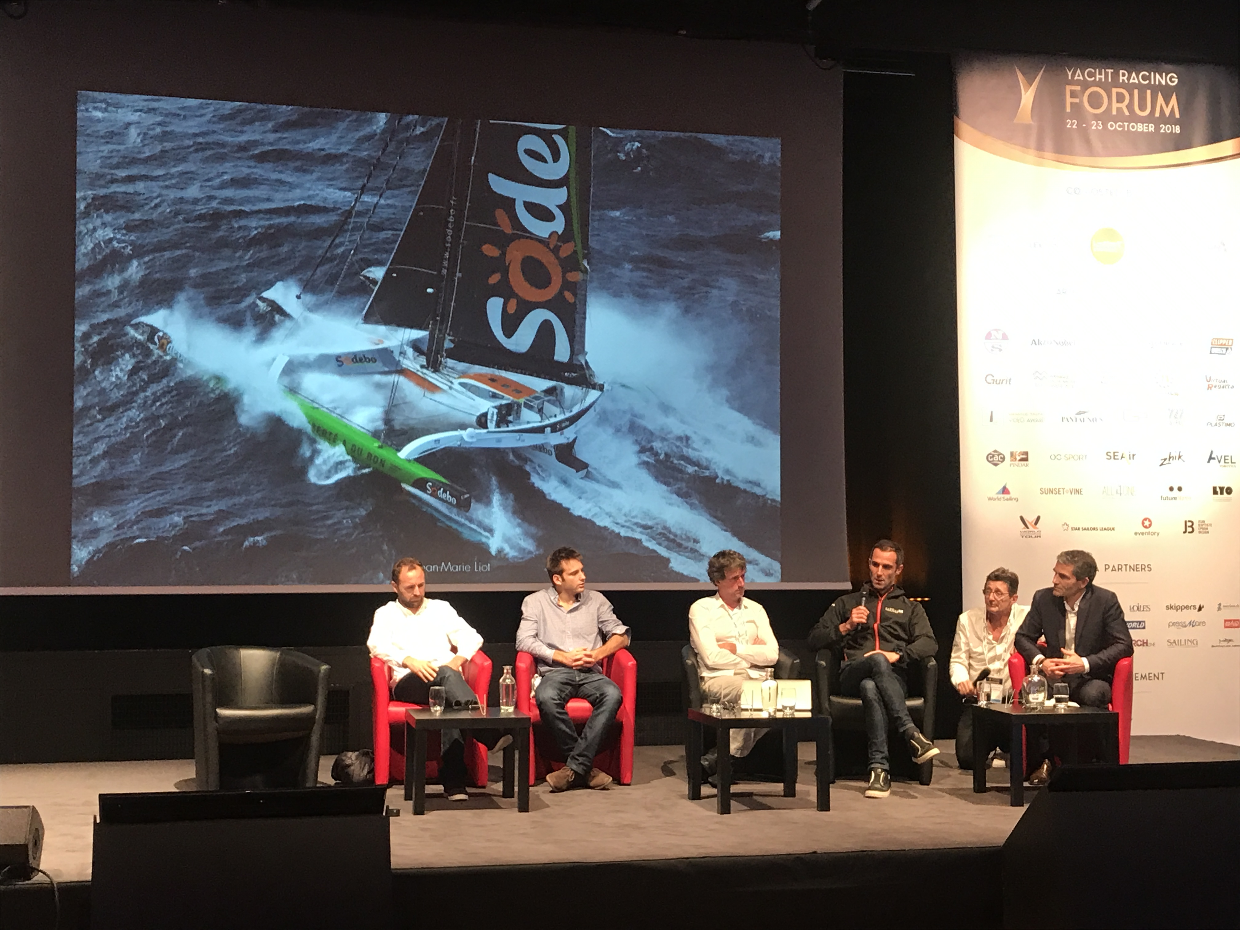 A panel discussion at the 2018 Yacht Racing Forum.