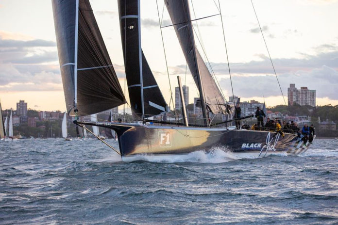 Black Jack takes the lead with the race record in their sight. Photo Credit - CYCA