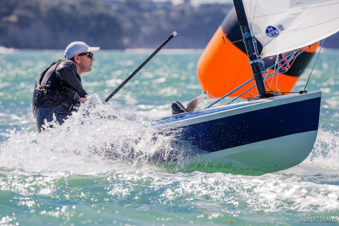 Dan Slater finished on top in a fleet of 110 boats at the OK Dinghy world championships. Photo Credit Robert Deaves