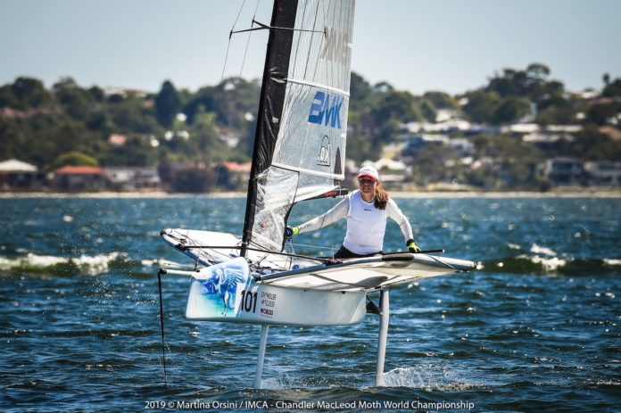 German Franziska Maege on the opening day of the Moth Worlds