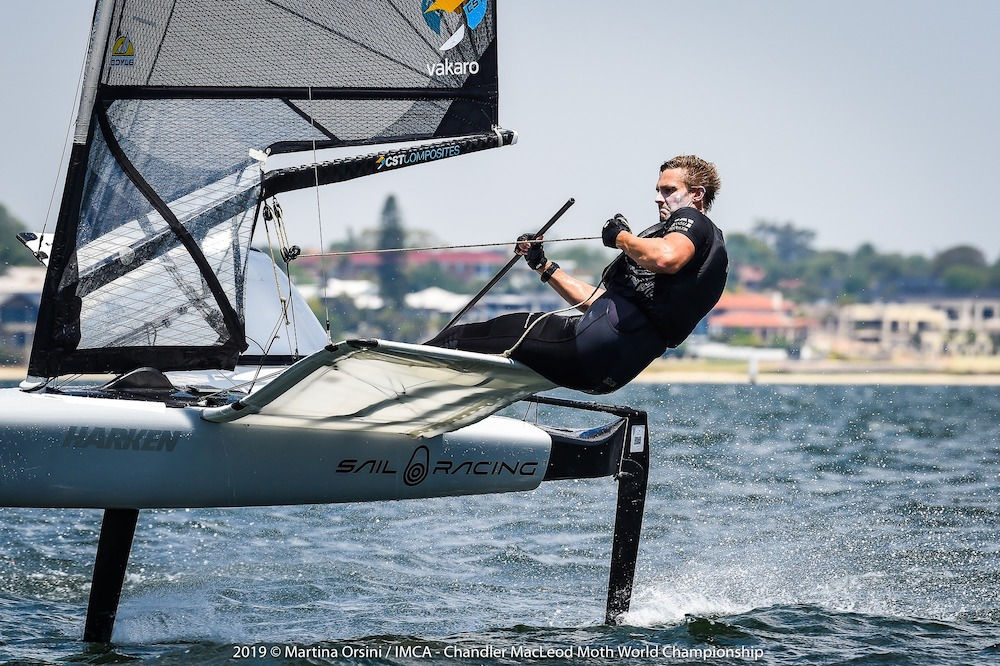 Kyle Langford sits in second overall after the penultimate day of the Chandler Macleod Moth Worlds