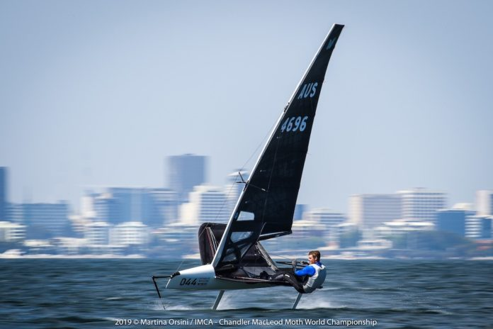 Tom Slingsby sailing on the Swan River in Perth