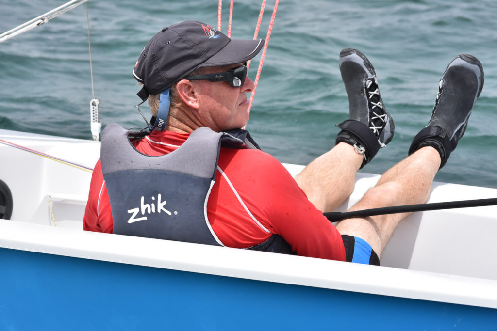 Light winds gave sailors reason to kick their feet up while waiting for breeze