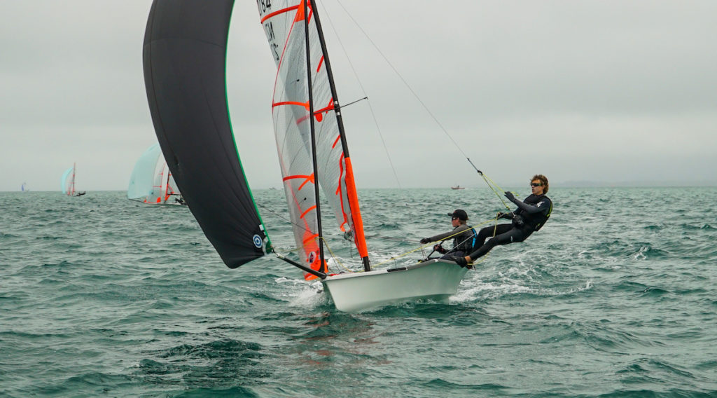 New Zealander Matthias Coutts competing in the silver fleet