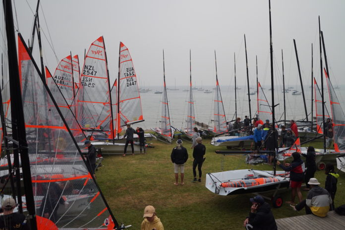 There has been low visibility at the Blairgowrie Yacht Squadron this week for the 29er Nationals