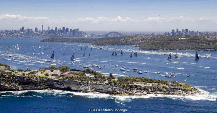 The Rolex Sydney Hobart Yacht Race has started from Sydney Harbour every year since 1945. Credit: ROLEX/Studio Borlenghi.