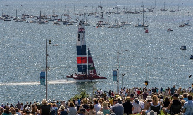 Cheers for home team with race win as Paul Goodison bows out of SailGP