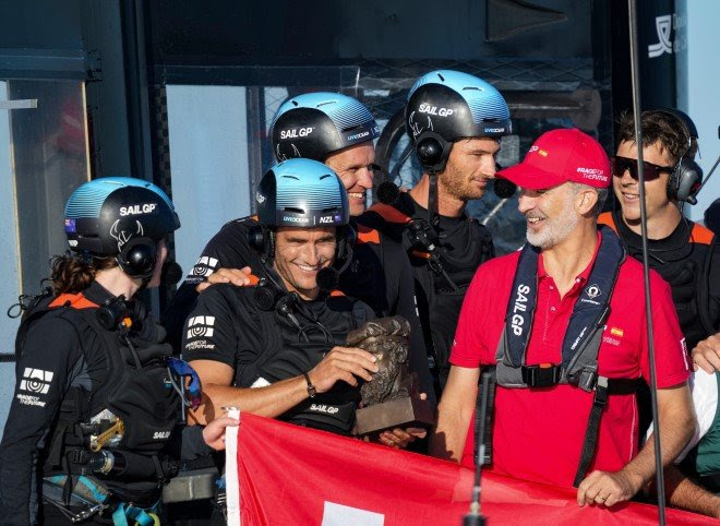 Spanish team favorites to win inaugural Spain Sail Grand Prix SailGP receives royal seal of approval from His Majesty King Felipe VI Women's Pathway Program athletes get final training ahead of first-ever race outing   Photo Credits to SailGP Media