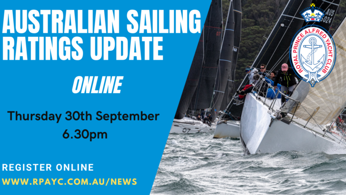 Australian Sailing Ratings Update Online by Royal Prince Alfred Yacht Club